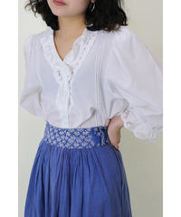 frill sleeve folklore blouse