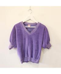 【LA buying】velours purple tops