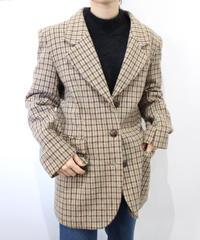 check wool jacket