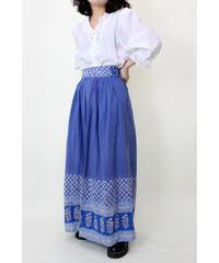 blue flare long skirt