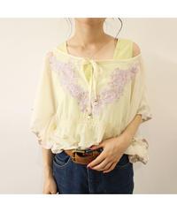 embroidery chiffon blouse