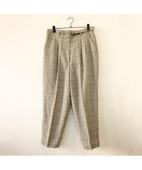 ベルト付Check slacks