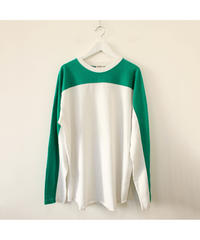 green×white long sleeve Tee