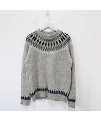 gray nordic sweater