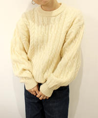 white fisherman sweater