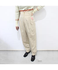 beige high-waist slacks