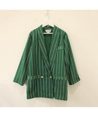made in USA green stripe jacket
