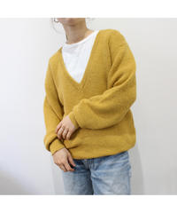 dusty yellow  v neck sweater