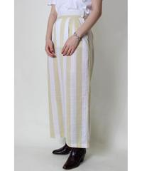 beige stripe widepants