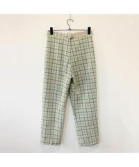 【LA buying】green check pants