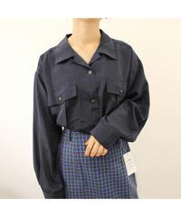 opencollar polyester  shirt