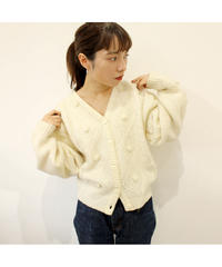 cable short cardigan
