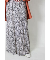 made in USA flower print long skirt