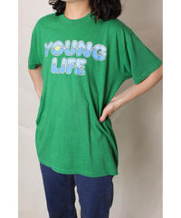 70s green young life tee