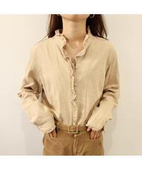 frill beige blouse