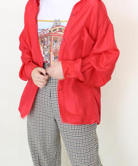 red polyester over shirt