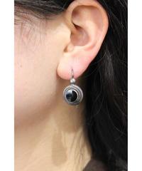 silver onyx pierce
