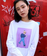 Bent fashion snap longTee A