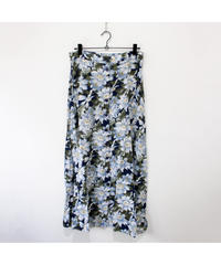 made in USA blue  flower pattern long skirt