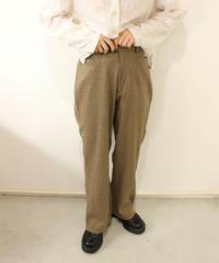 brown check slacks