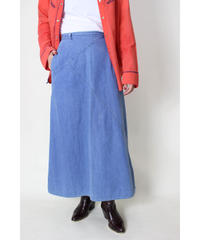 patchwork denim long skirt