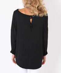 バックリボンロングTシャツ/Black