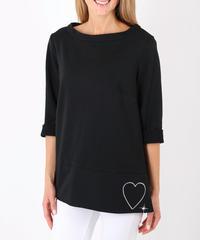 スウェットシャツ with Swarovski and heart / Black
