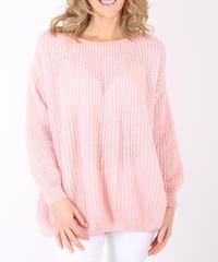 コクーンシルエットモヘアセーター/Pink