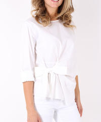 サイドリボンシャツ  / White