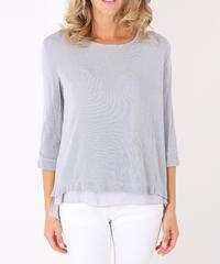 ダブルレイヤーセーター/Light grey