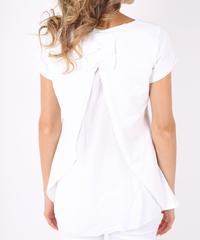 ダブルバックリボン Tシャツ / White