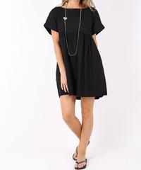 ドレープドレスシャツ / Black