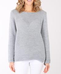 リブ編みルレックスセーター/Light grey