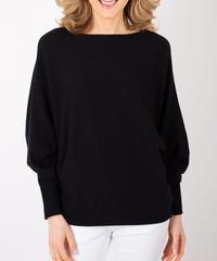 スムースドルマンスリーブセーター/Black