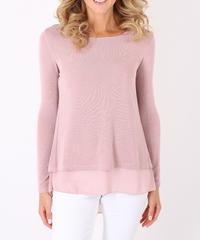 バックリボンセーター/Pink
