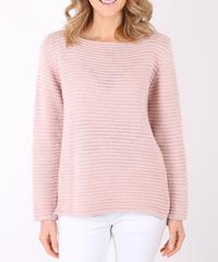 リブ編みルレックスセーター/Pink