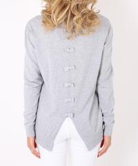 ミニバックリボンセーター/Light grey