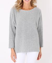 カシミヤmixed セーター/Light grey