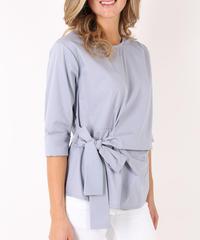 サイドリボンシャツ / Light grey