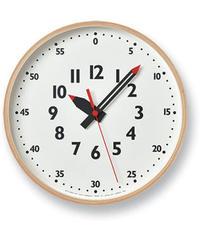 レムノス 掛け時計 キッズ 知育 ふんぷんくろっく Sサイズ 木枠 白 YD14-08S Lemnos