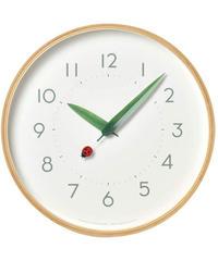 レムノス 掛け時計 とまり木の時計  アナログ 木枠 天然色木地 SUR18-16  Lemnos 直径25.4×奥行4.8cm