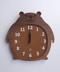 ヤマト工芸 Clock Zoo 掛け時計 クマ YK14-003-クマ
