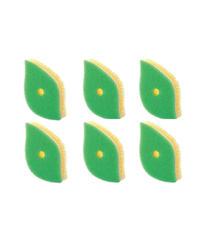 マーナ 葉っぱ型スポンジ6個セット