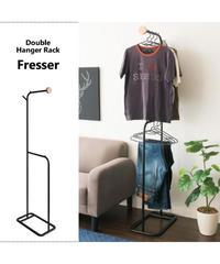 服を正面から魅せながら収納できるダブルハンガーラック Fresser(フレッサー)HS-1745