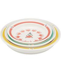 MOOMIN (ムーミン) 「 クッカ 」 ユニバーサル食器 プレート 皿 3点セット (化粧箱入) MM1000-76
