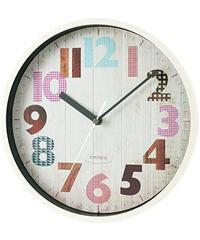 ノア精密 rimlex ジーツ 電波時計 W-696 掛け時計 掛時計 壁掛け時計 壁掛時計 木目風 ヴィンテージ調 夜間秒針停止機能 ステップ秒針 おしゃれ