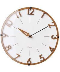 インターフォルム 掛け時計 ホワイト 直径30×奥行5.5 フィッセ Visse CL-3707