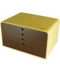 ヤマト工芸 A4 FILE CASE 4段  A4ファイルケース 引出4段 収納ラック
