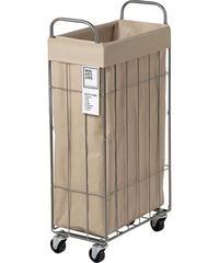 WIRE ARTS & PRO フォールディング(折り畳み)ランドリースクエアバスケット 40L SLIM キャスター付(003307)