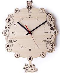 ヤマト工芸 CATS clock N サイズ:約W27.5 D4.5 H33.5 YK18-003